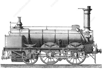 Steam Locomotive with Coal Car, 19th Century