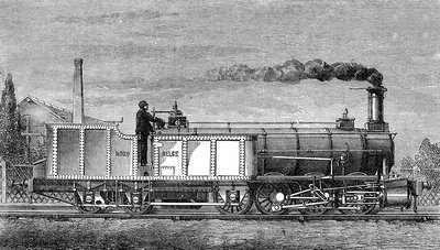 Engerth Articulated Steam Locomotive, 1850s