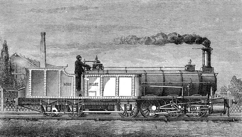 Engerth Articulated Steam Locomotive, 1850s
