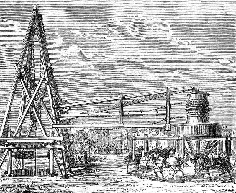Digging Grenelle Artesian Well of Paris, 1830s