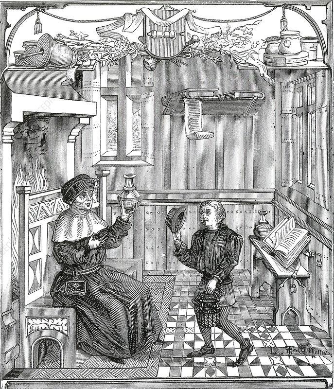 Uroscopy, 15th Century