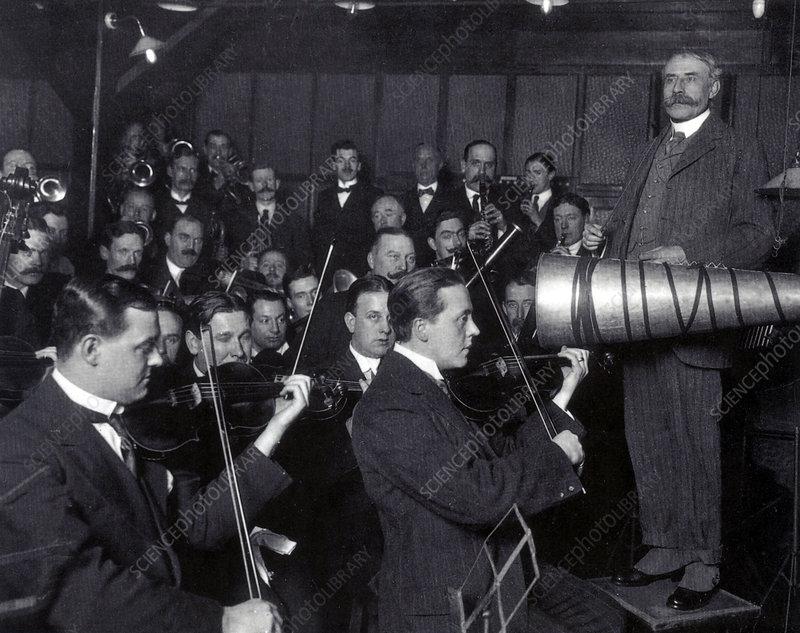 Edward Elgar Recording Session, 1914