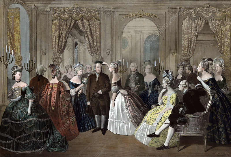 Franklin's French Court Reception, 1778