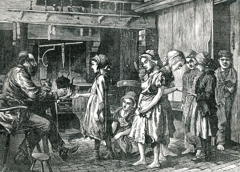 Children Receiving Wages, 1871