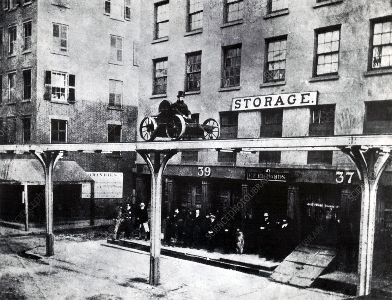 Elevated Railway Test Run, 1867