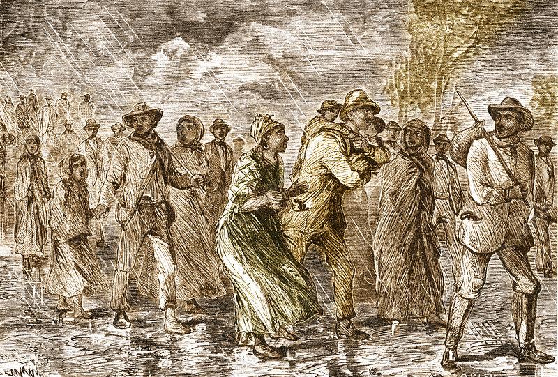 Slaves Escaping via Underground Railroad