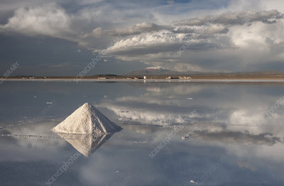 Salt Cones on the Salar de Uyuni, Bolivia