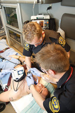 Paramedics Use Glidescope on Patient