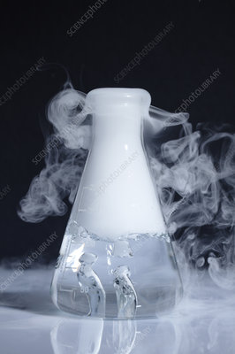 Dry ice sublimating