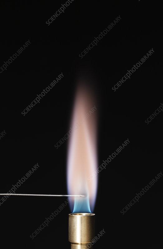 Potassium flame test