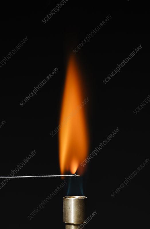 Calcium flame test