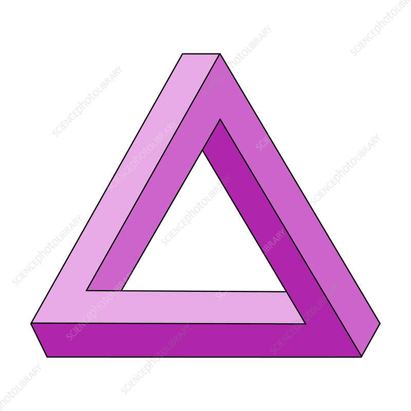 Optical Illusion, Penrose Triangle, Illustration