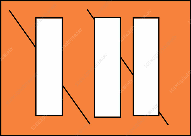Optical Illusion, Poggendorff, Illustration