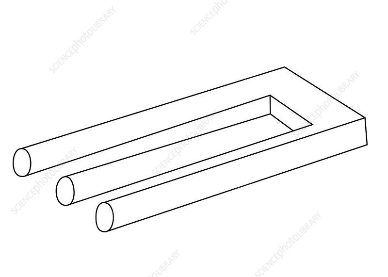 Optical Illusion, Pipes, Illustration