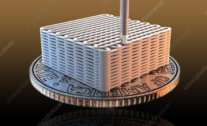 3-D Printed Graphene Aerogel Microlattices, 2015