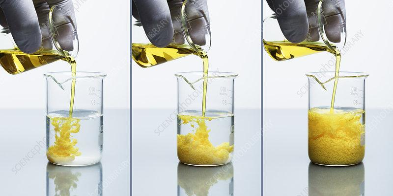 Lead Chromate Precipitate