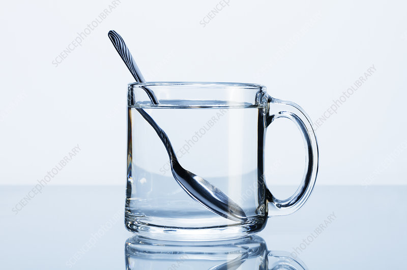 Spoon in a Cup of Water (Refraction)
