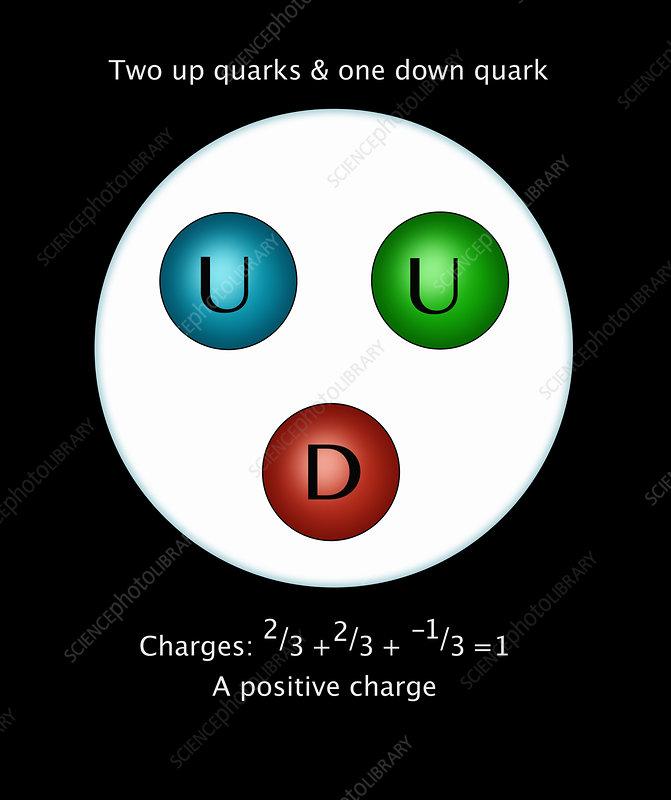 Proton Quarks, Illustration