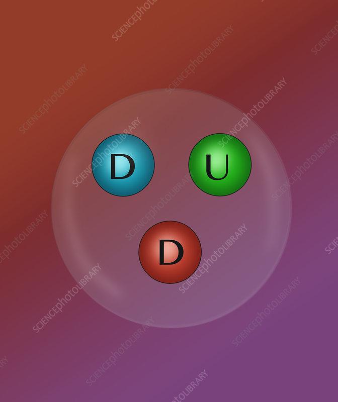 Neutron Quarks, Illustration