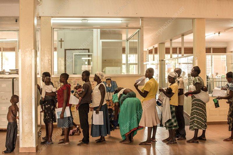 Hospital pharmacy queue