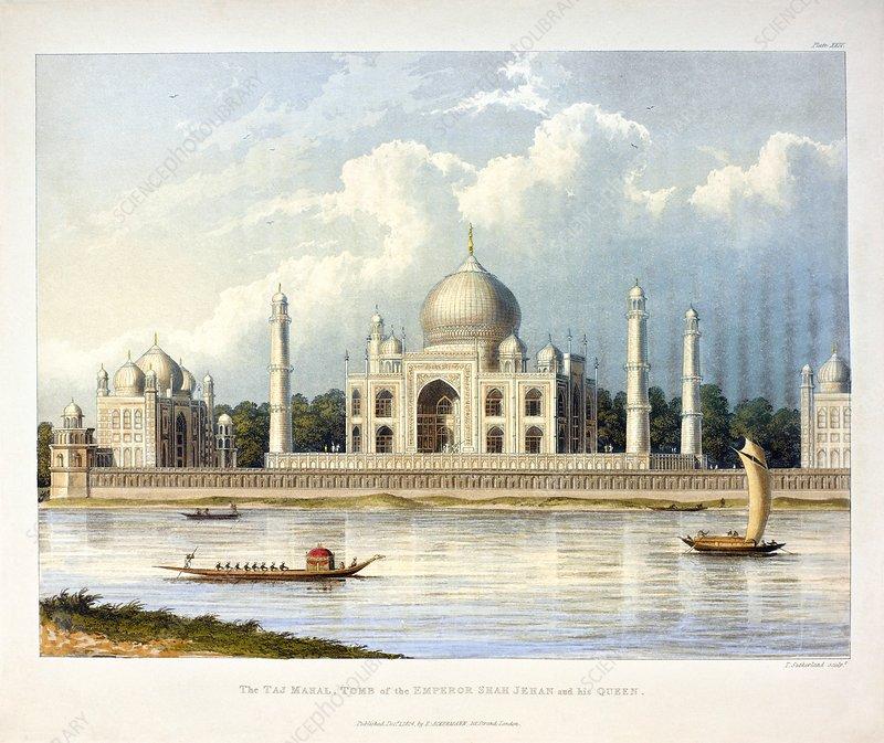 Taj Mahal, 19th century illustration