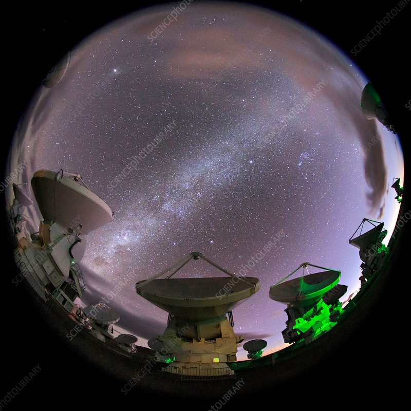 ALMA telescopes, Chile