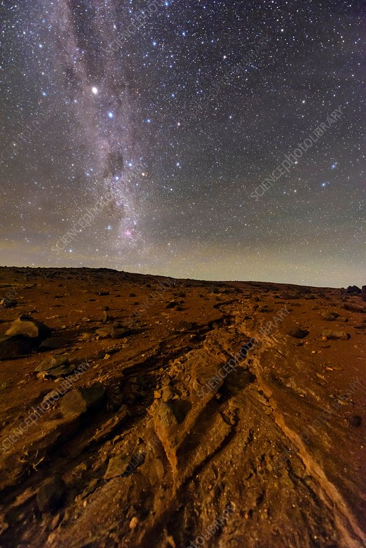 Night sky over Atacama Desert, Chile