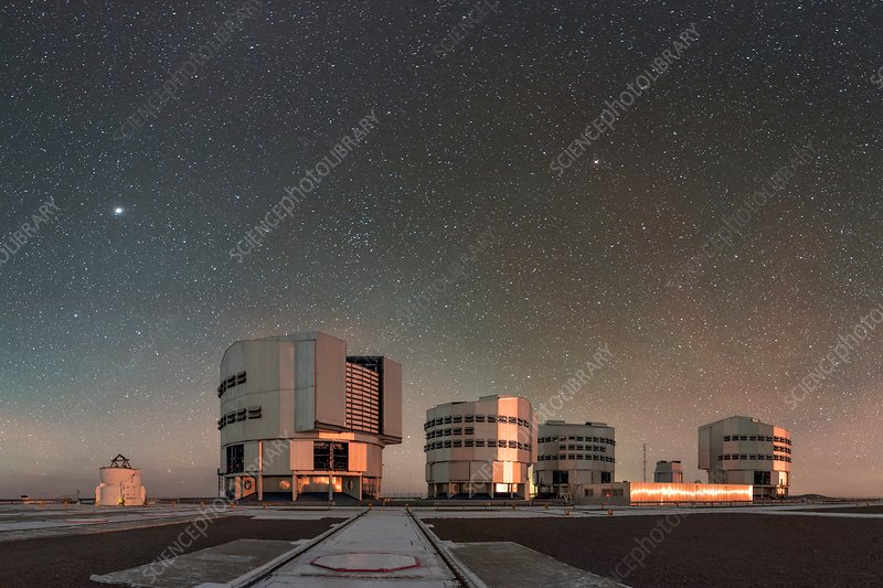Night sky over Very Large Telescope, Chile