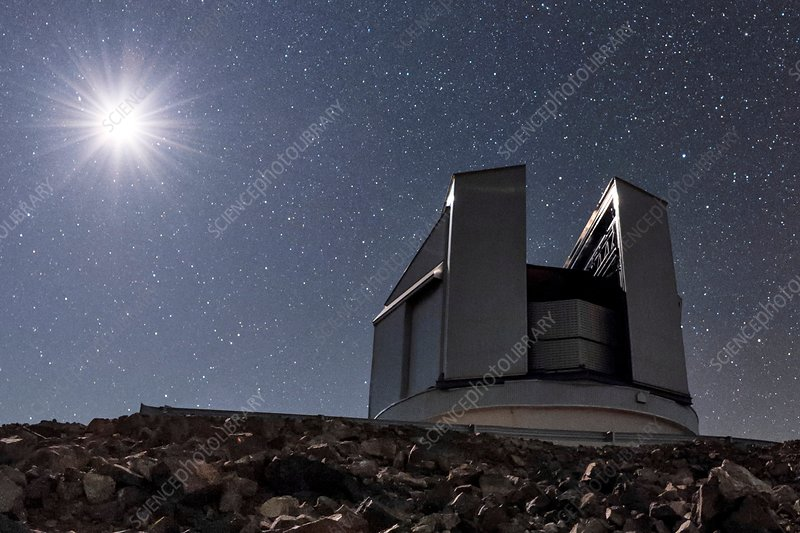 Night sky over VISTA telescope, Chile