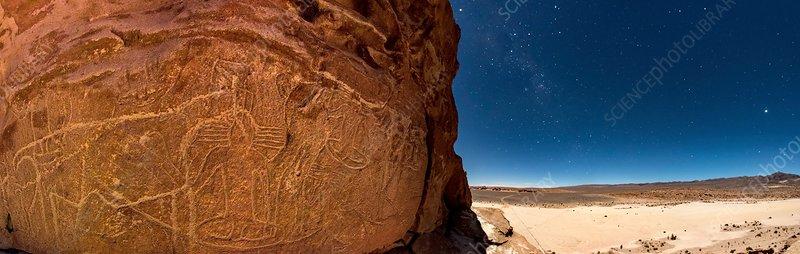 Atacama petroglyphs, Chile