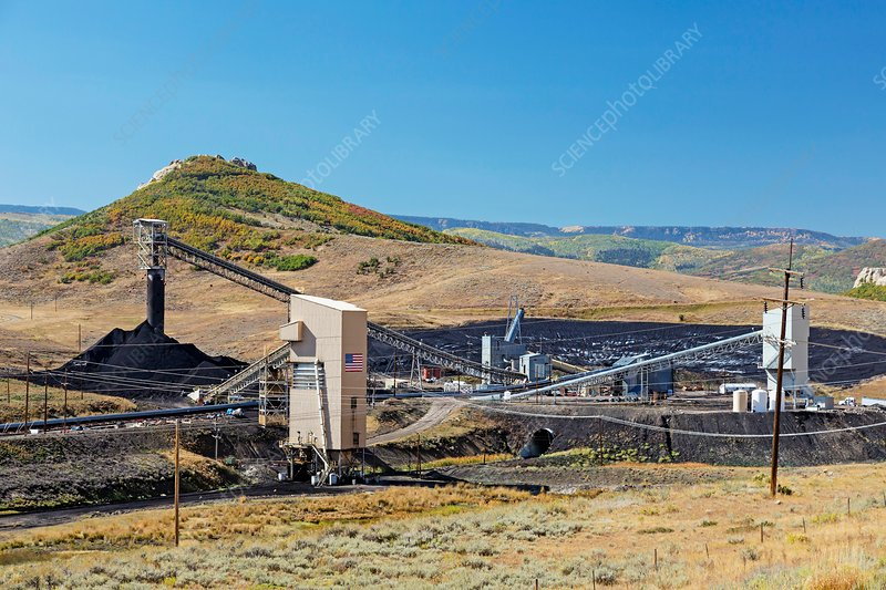 Coal-loading facility at a coal mine