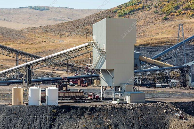 Coal-loading facility at a coal mine