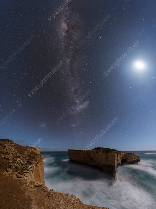 Milky Way over London Arch, Australia