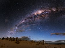 Night sky over The Pinnacles, Australia