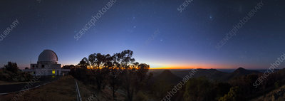 Dawn over Sliding Spring Observatory