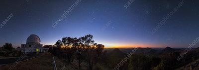 Dawn over Sliding Spring Observatory