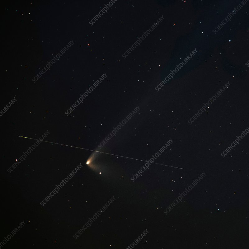 Comet PANSTARRS and wambling meteor
