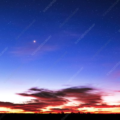 Night sky at dawn, Australia