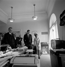 Kennedys watching Alan Shepard's spaceflight 1961