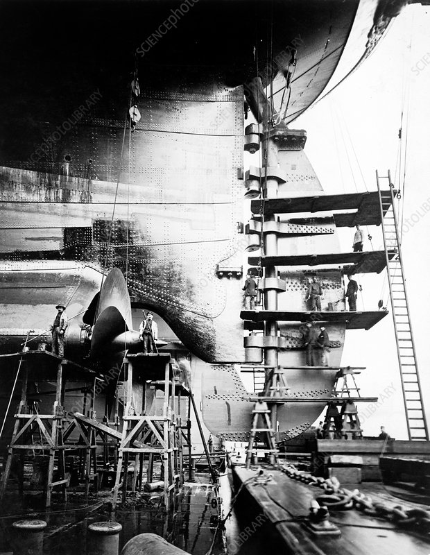 SS Imperator construction, early 1910s