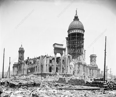 San Francisco City Hall after 1906 earthquake