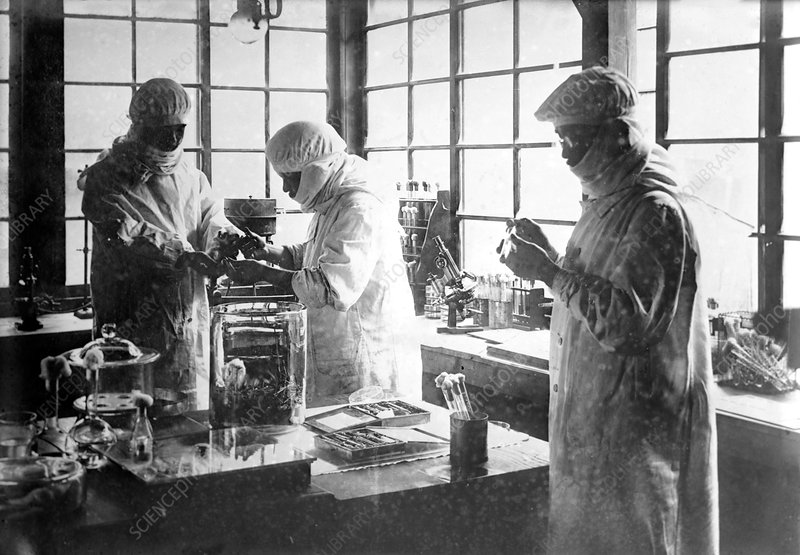 Bacteriology research, 1910s