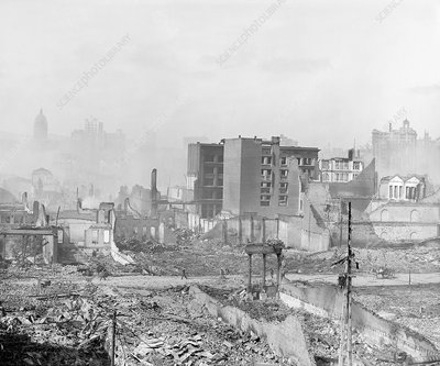 Ruins after 1906 San Francisco earthquake