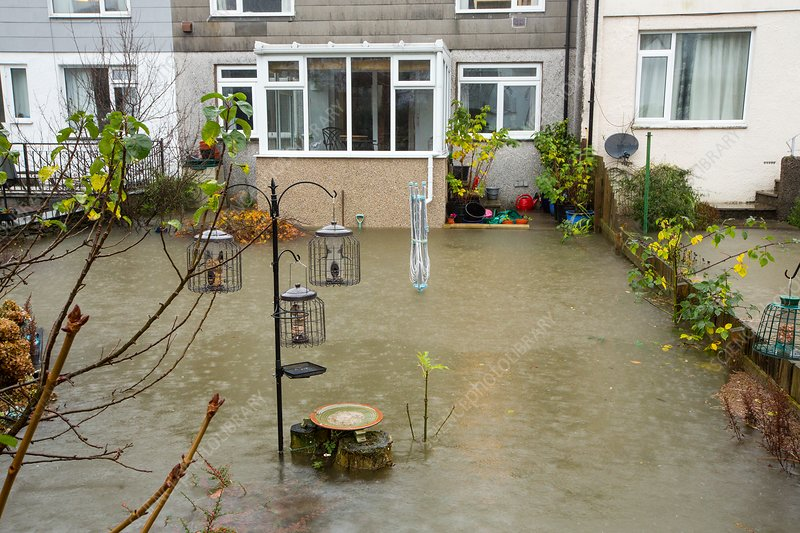 Flooded house, Ambleside, UK