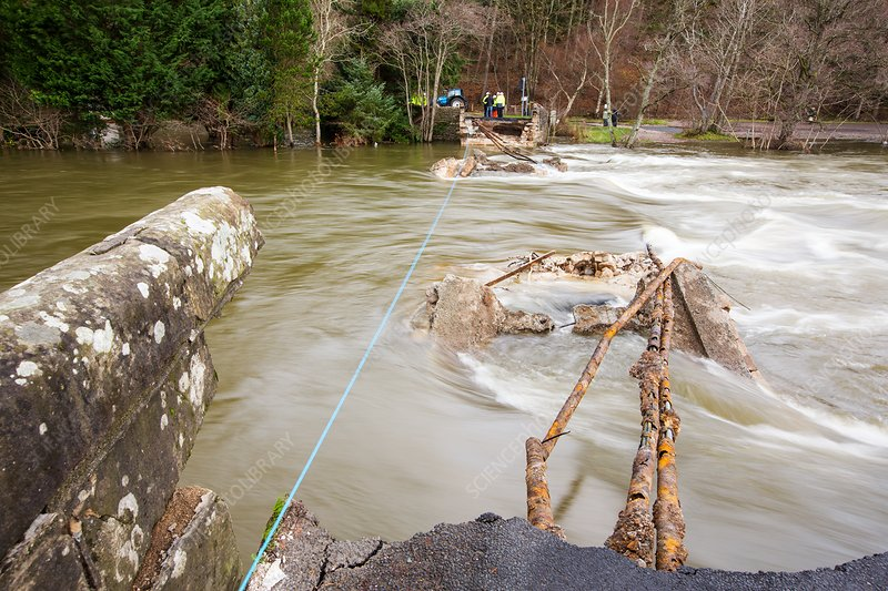 Pooley Bridge after Storm Desmond, UK