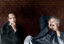 Niels Bohr and Albert Einstein, physicists