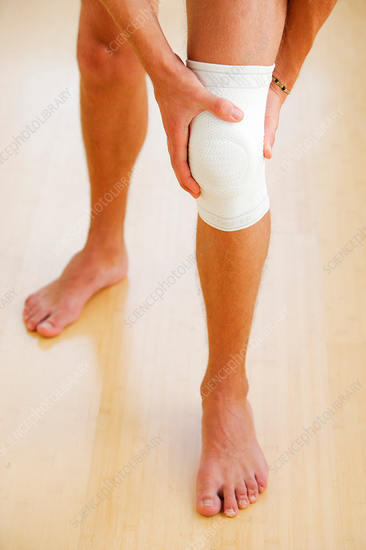 Man wearing a knee support
