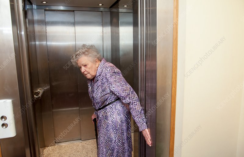 Using a lift in a care home