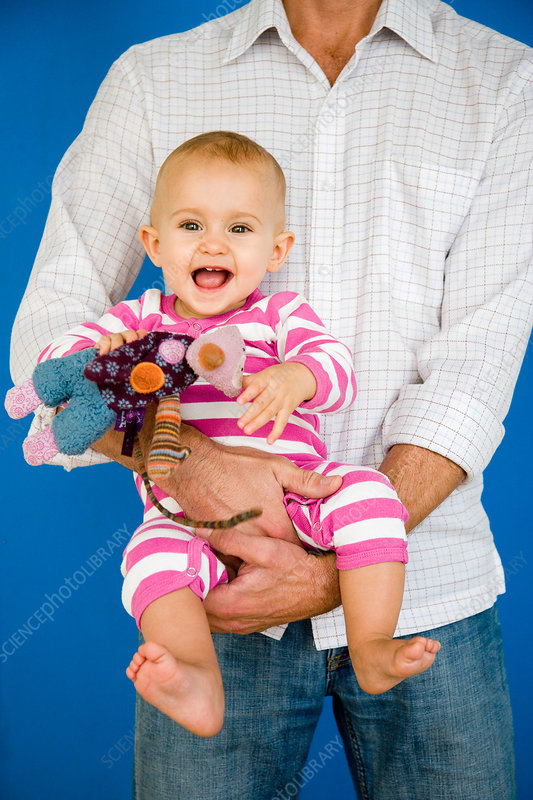 Baby with father
