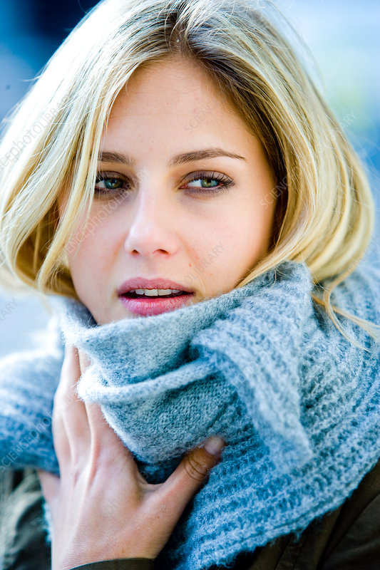 Woman in cold weather